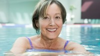 Mature woman in a swimming pool